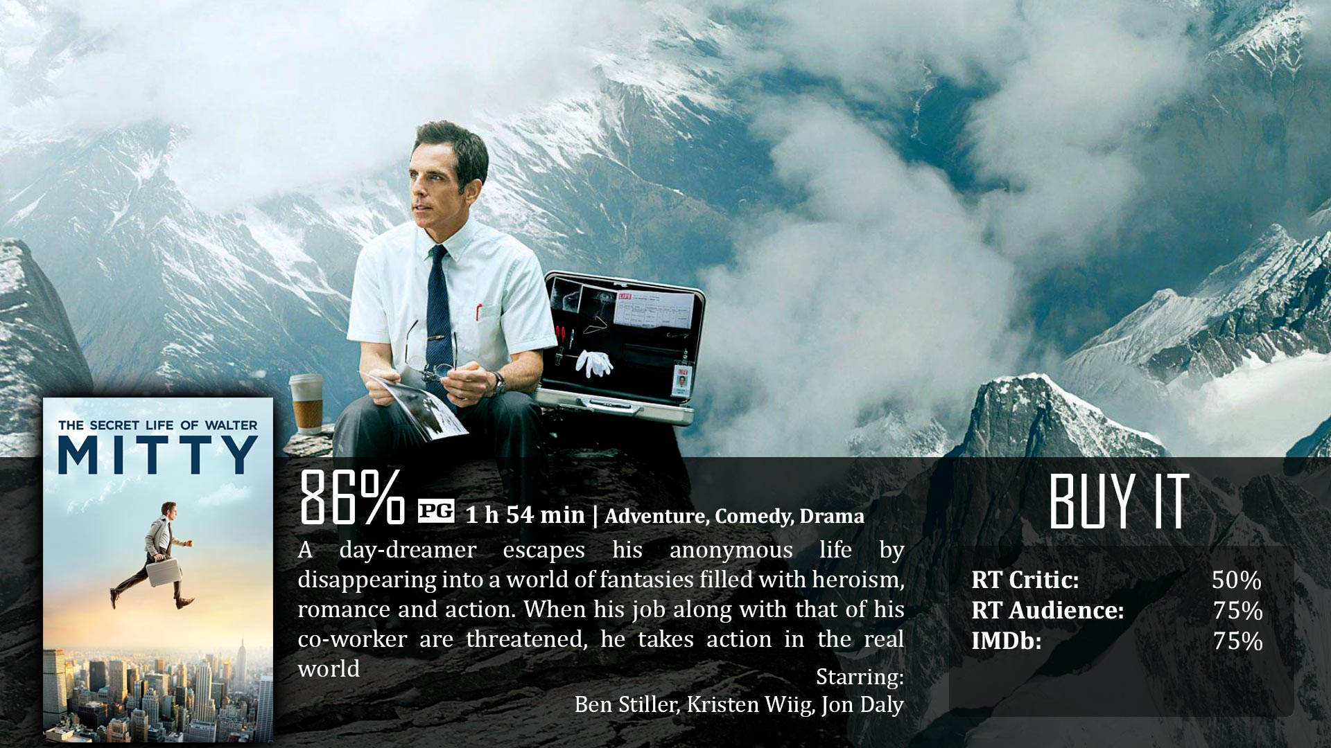 Secret Life Of Walter Mitty Quotes The Secret Life Of Walter Mitty 2013  Dave Examines Movies